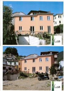 Ampliamento e sopraelevazione in struttura prefabbricata in legno in provincia di La Spezia